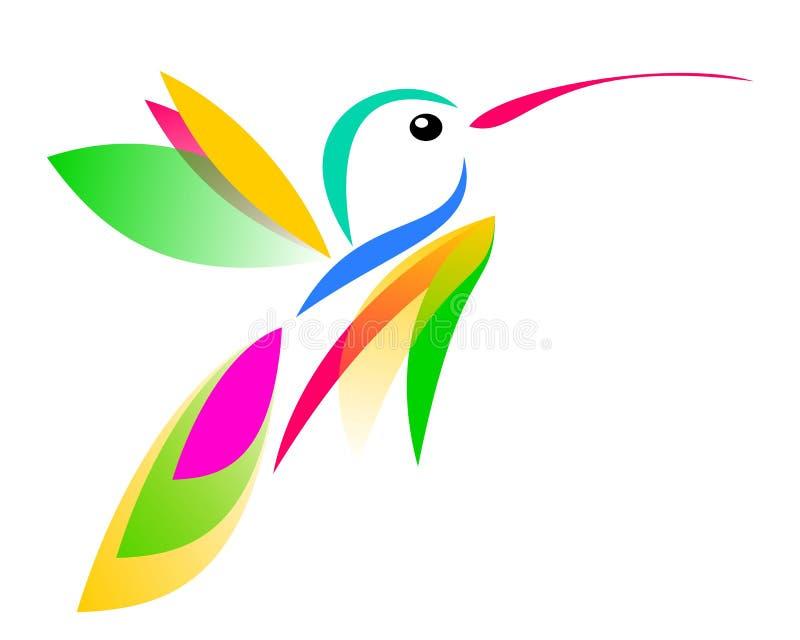 Рисовать логотипа колибри и лотоса бесплатная иллюстрация