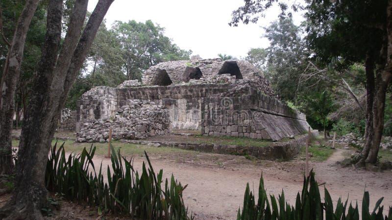 Руины майяской культуры в Chichen Itza, полуострове Юкатан стоковое изображение rf