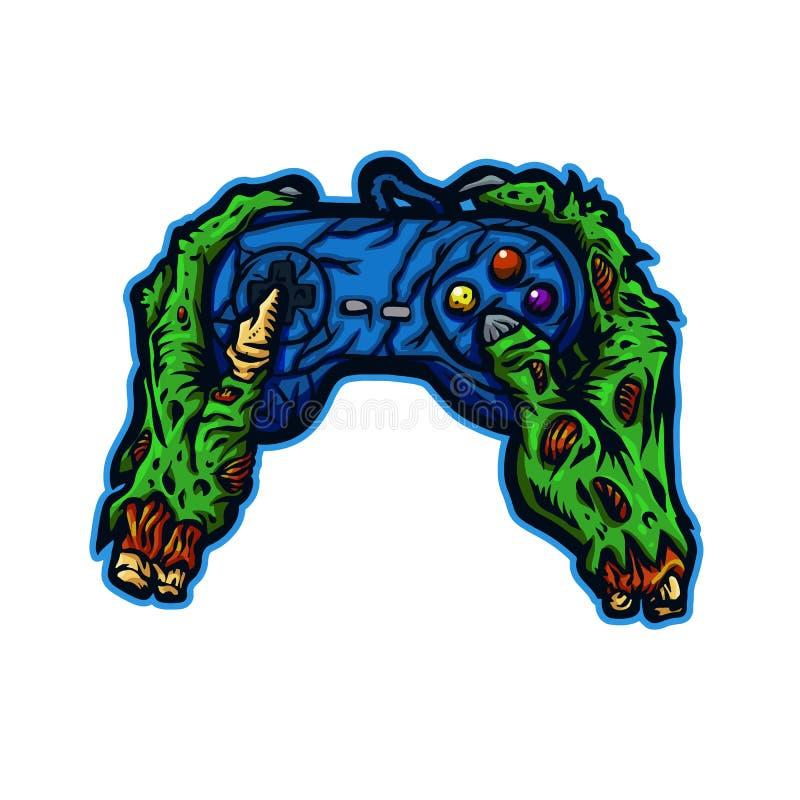 Рука зомби играя видеоигру бесплатная иллюстрация