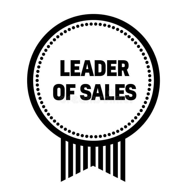 Руководитель продаж штемпелюет на белизне иллюстрация вектора