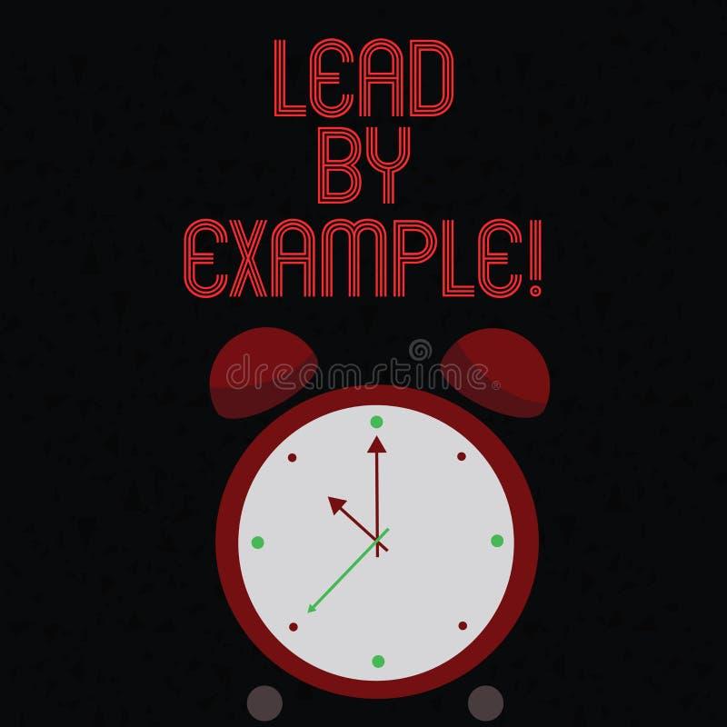 Руководство показа знака текста примером Схематическая организация ментора управления руководства фото иллюстрация вектора