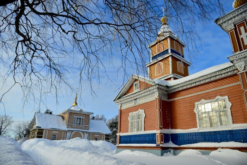 Русское scape зимы стоковое изображение rf