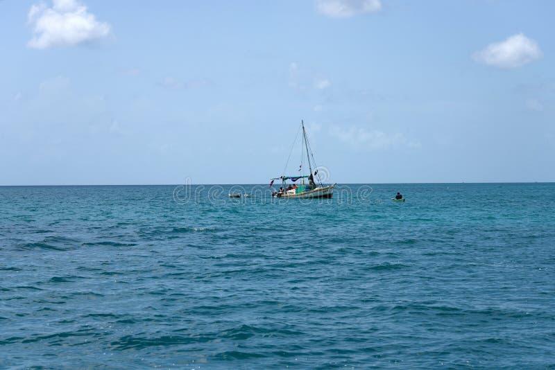 рыболовство belize стоковая фотография