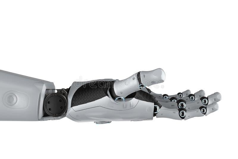 робототехническое изолированное рукой иллюстрация вектора