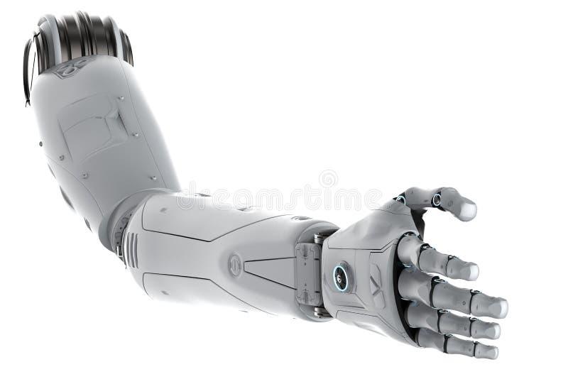 робототехническое изолированное рукой иллюстрация штока