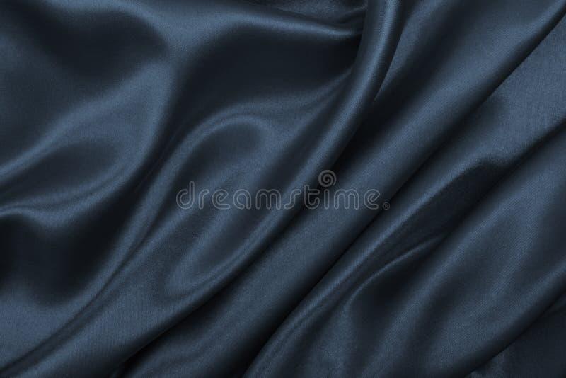 Ровная элегантная темная серая текстура шелка или сатинировки как абстрактная предпосылка Роскошный дизайн предпосылки стоковое фото rf