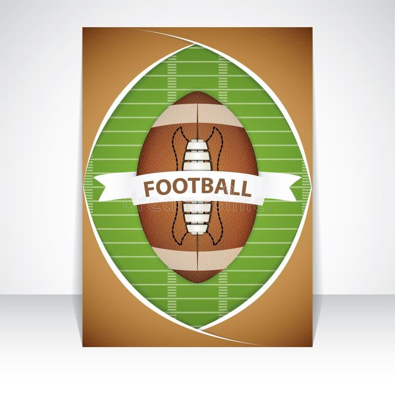 Рогулька американского футбола иллюстрация вектора