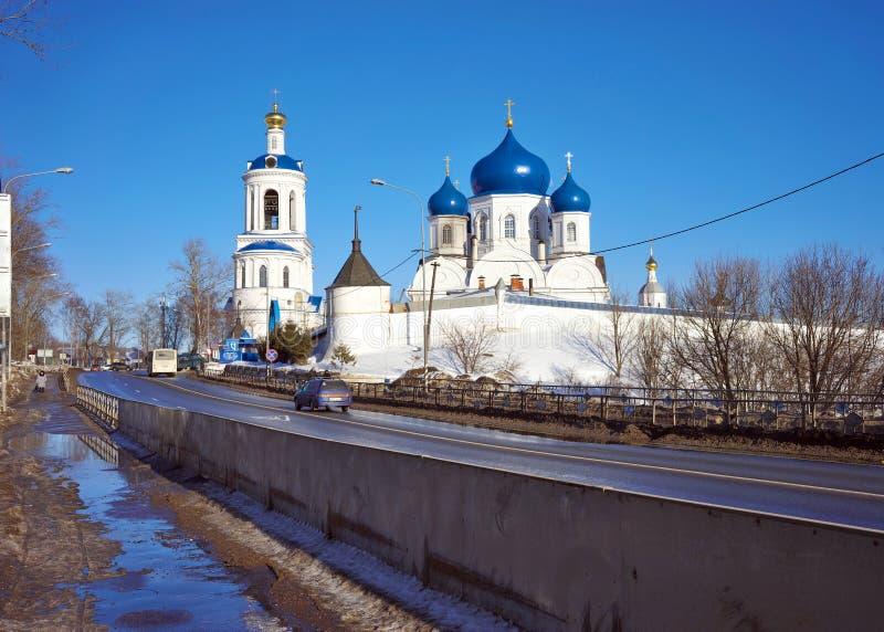 Рождество монастыря Bogolyubsky девственницы Правоверный монастырь в деревне Bogolyubovo, региона Владимир стоковое фото rf