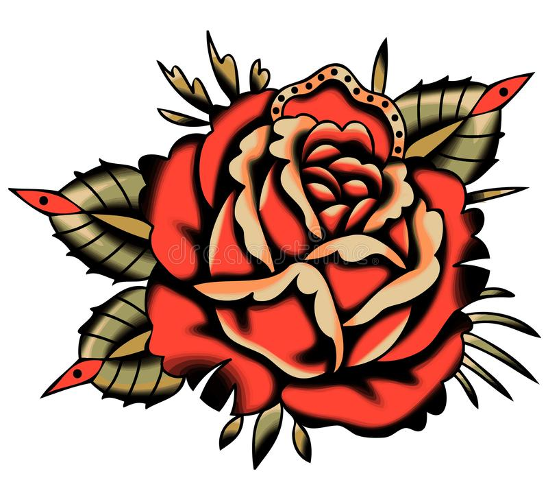 Red Rose Tattoo Stock Illustrations 3 593 Red Rose Tattoo Stock