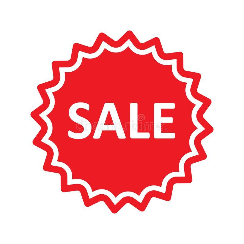 розовый желтый цвет сбывания красный стикер сбывания Онлайн знамя продвижения магазина изолированная иллюстрация руки кнопки нажи иллюстрация вектора