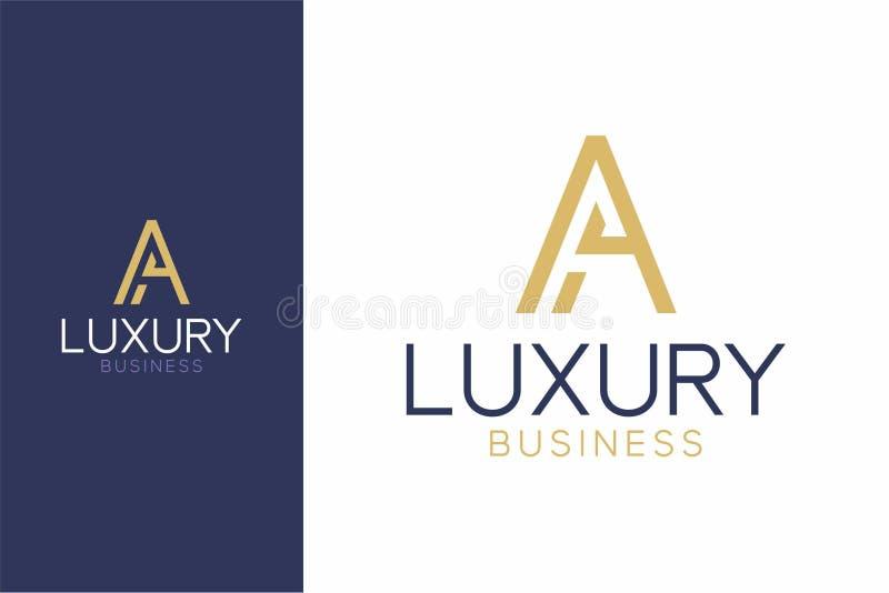 Роскошный стиль логотипа a современный стоковая фотография rf