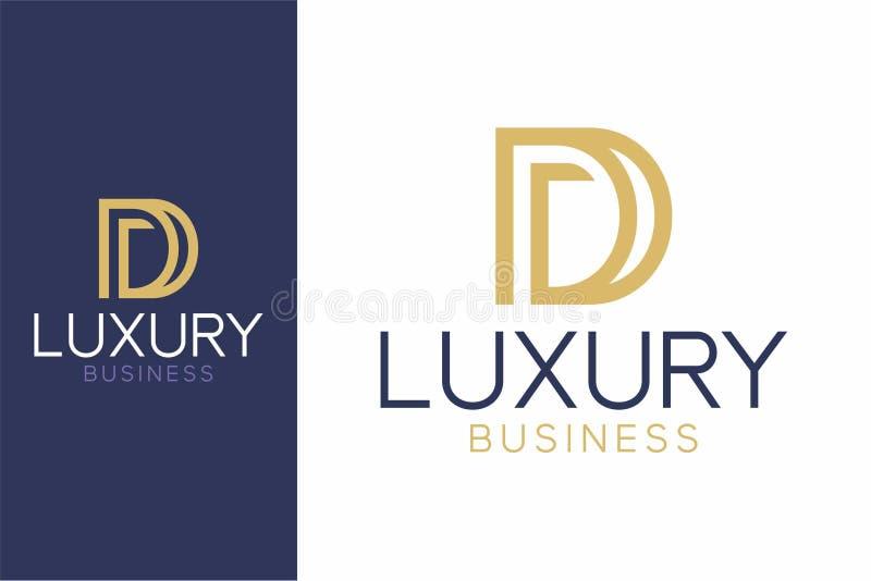 Роскошный стиль логотипа d современный стоковое фото rf