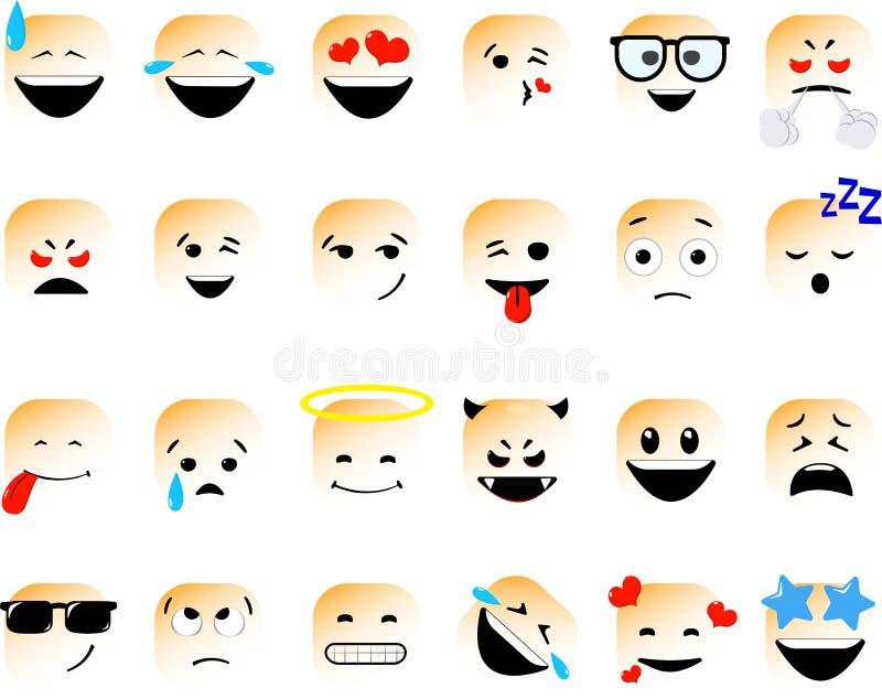 Ñ ² du ¾ Ð de Ð du ¹ аРle ¼ Ð le  Ñ Ñ€ÐºÐ° le ¾ бРle  Ð le» a placé des émoticônes de vecteur dans la ligne style, emoji d illustration stock
