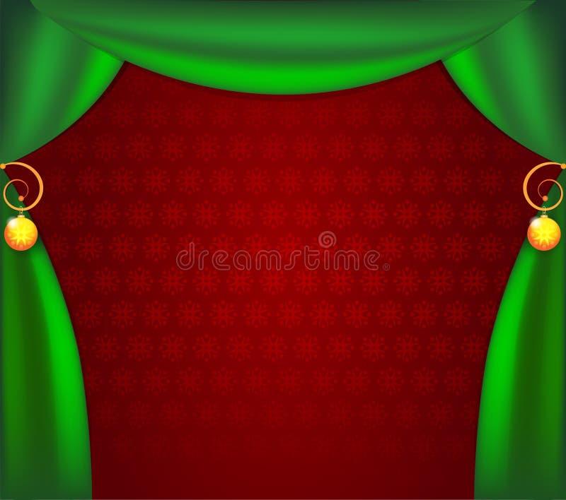 Ñhristmas_curtains lizenzfreie abbildung