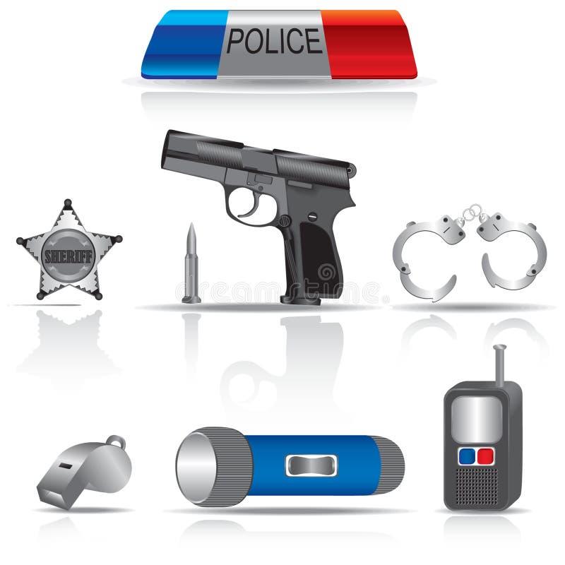 Ñollection heeft politie bezwaar stock illustratie