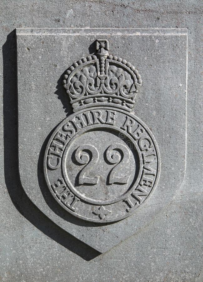 2ò Cheshire Regiment Badge fotos de stock royalty free