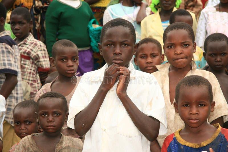 ò Novembro 2008. Refugiados do Dr. Congo fotografia de stock royalty free