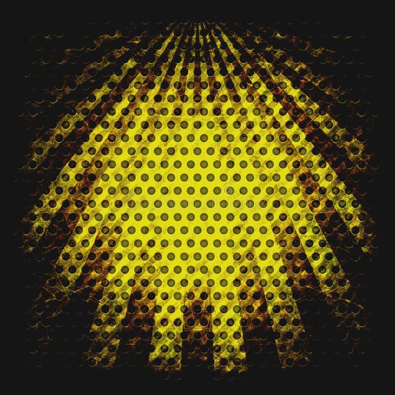 Żółci grunge sunbeams obrazy royalty free