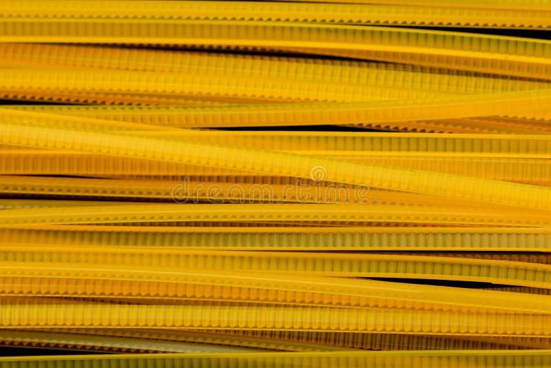 Żółci nylonu kabla krawaty obraz stock