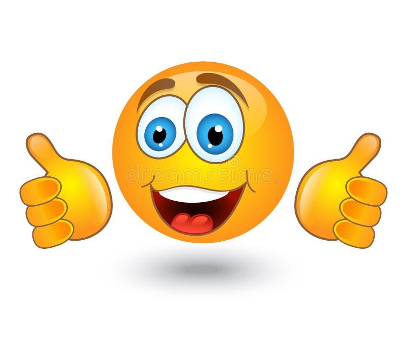 Żółci round emocja uśmiechy ilustracji