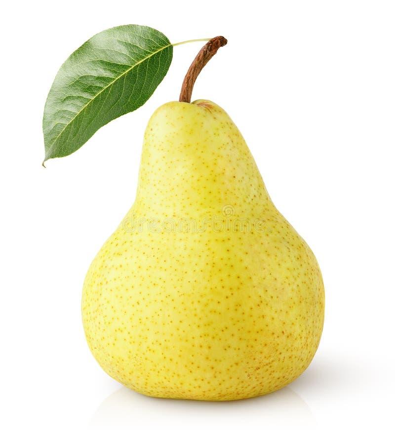 Żółta bonkrety owoc z liściem odizolowywającym na bielu obrazy stock