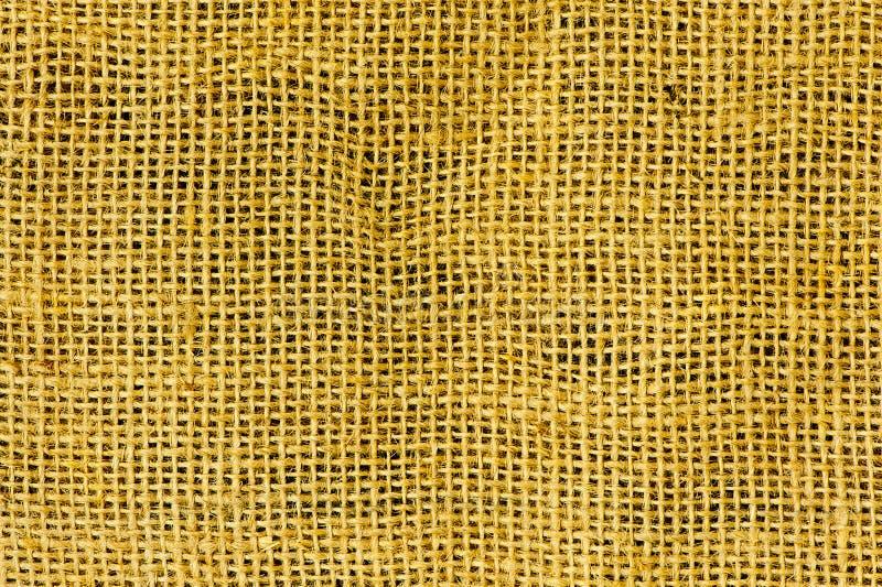 Żółta brezentowa tekstura obrazy royalty free