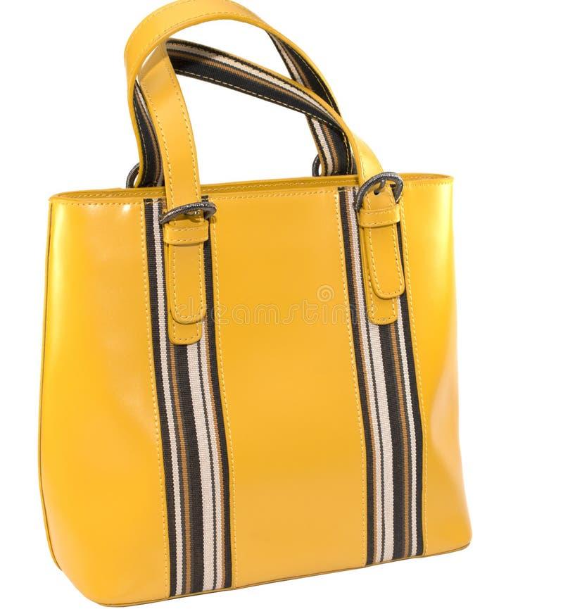Żółta damy ` s torba obrazy stock