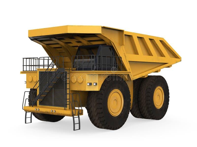 Żółta kopalnictwo ciężarówka  obraz royalty free