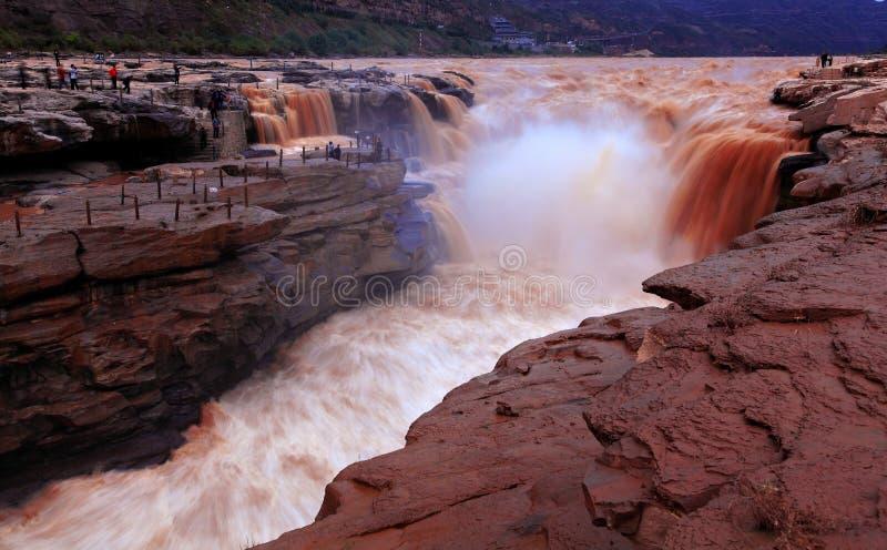 Żółta rzeka w Chiny obrazy stock
