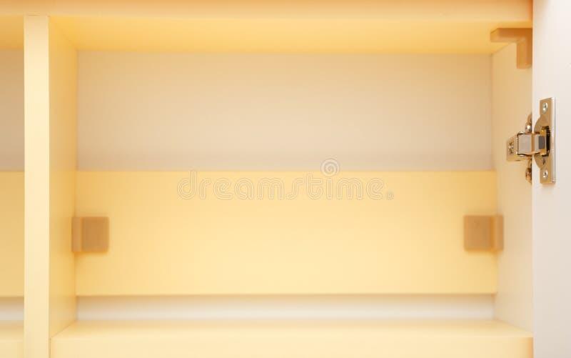 Żółta spiżarni półka fotografia royalty free
