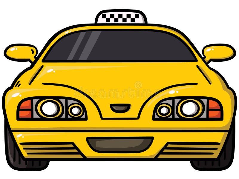 Żółta taksówka ilustracja wektor
