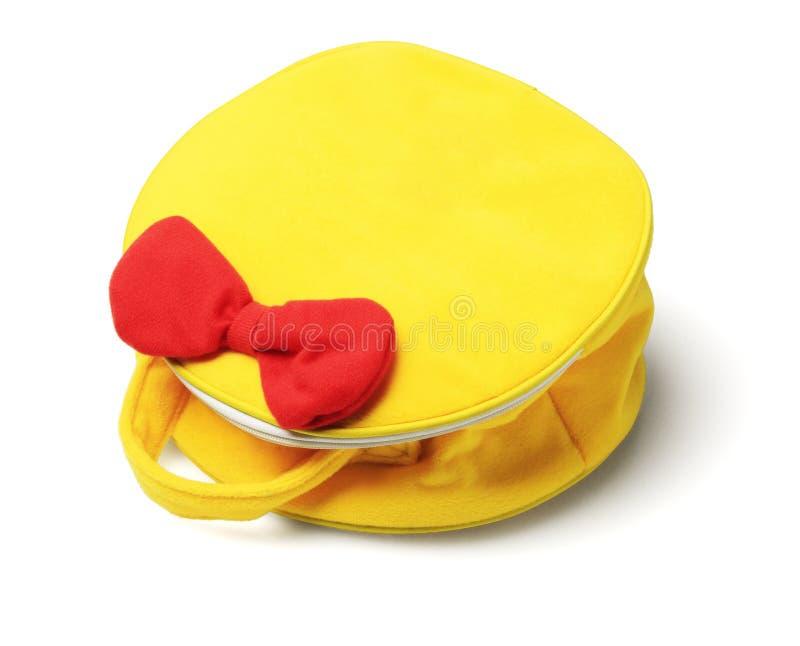 Żółta torebka fotografia stock