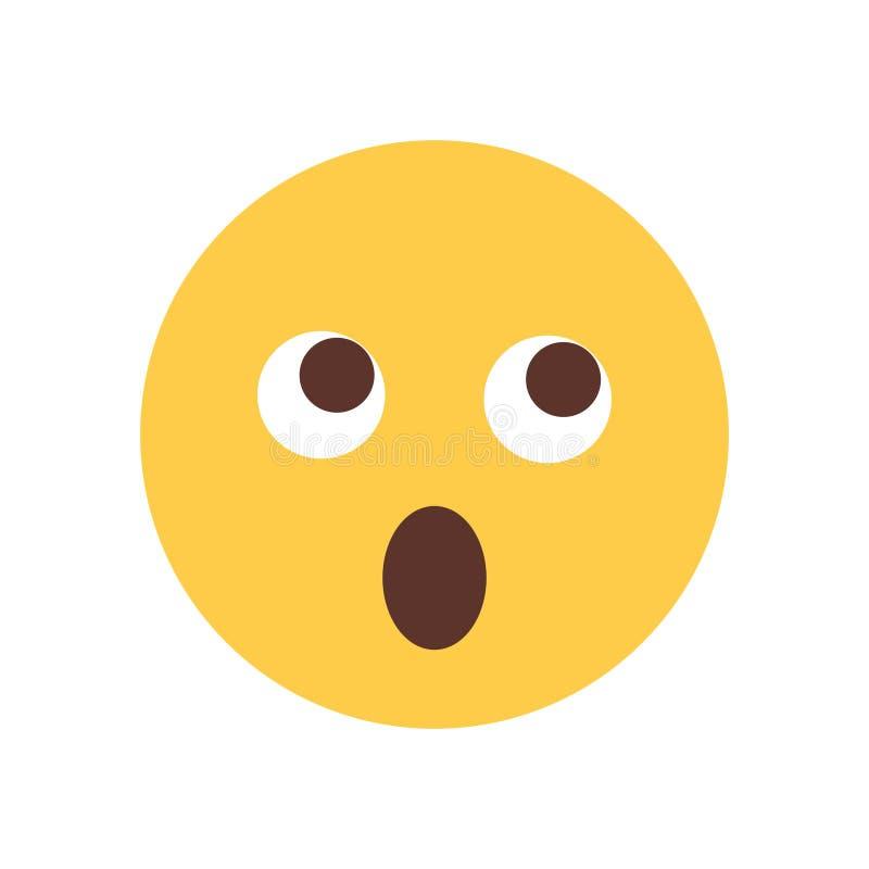 Żółta twarz Szokujący kreskówki Emoji emoci ikony ludzie ilustracji