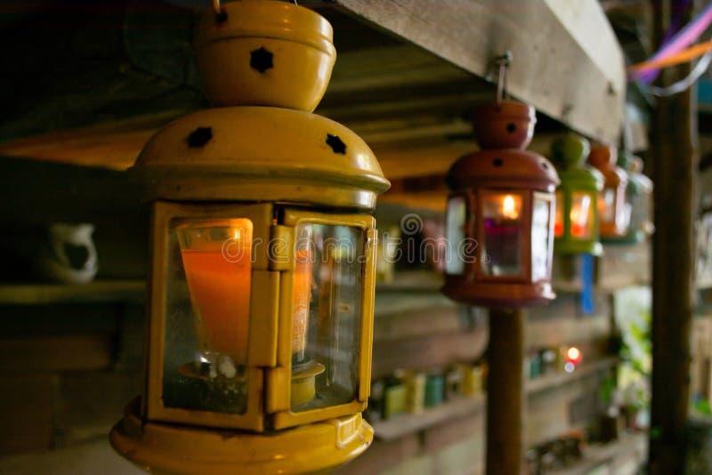 Żółte lampy obraz royalty free