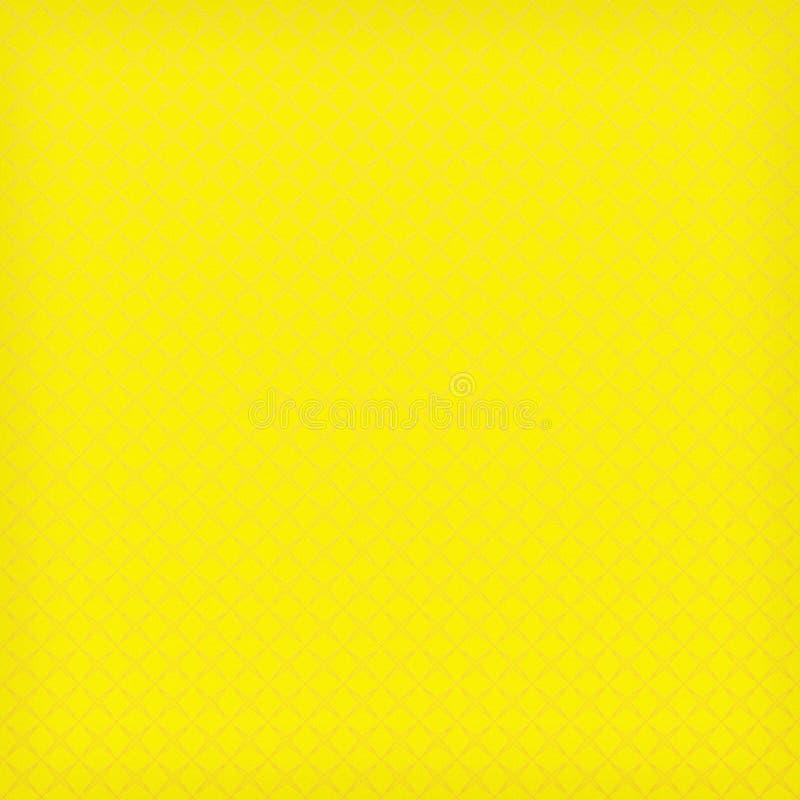 Żółtego tła abstrakcjonistyczny projekt ilustracja wektor
