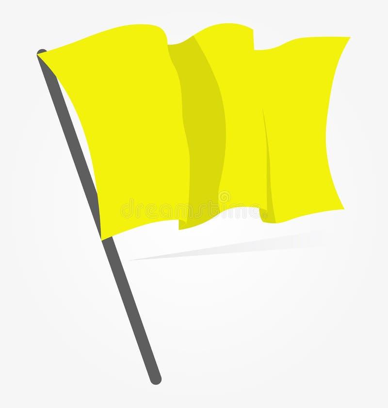 Żółtej flaga ikona odizolowywająca na białym tle Wektorowy illustrati ilustracja wektor