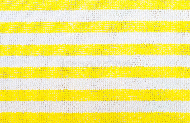 Żółtej tkaniny pasiasta tekstura Odzieżowy tło zdjęcia royalty free