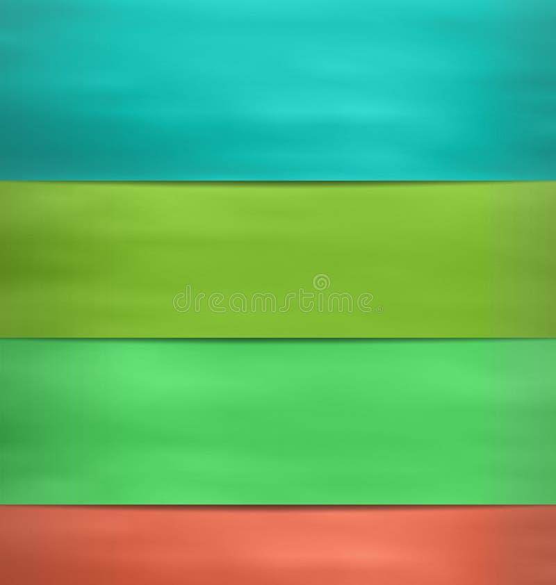 Żółtej zieleni akwareli pustego miejsca Błękitni majchery ilustracji