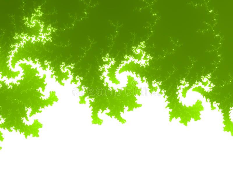 Żółtej zieleni fractal tło ilustracja wektor