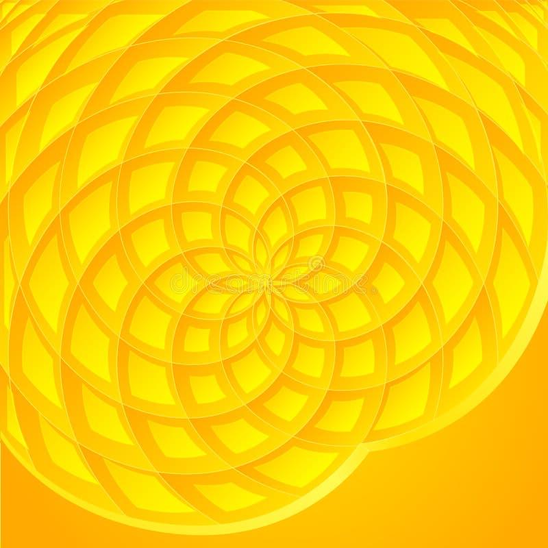 Żółty abstrakcjonistyczny słonecznikowy wektorowy tło ilustracja wektor
