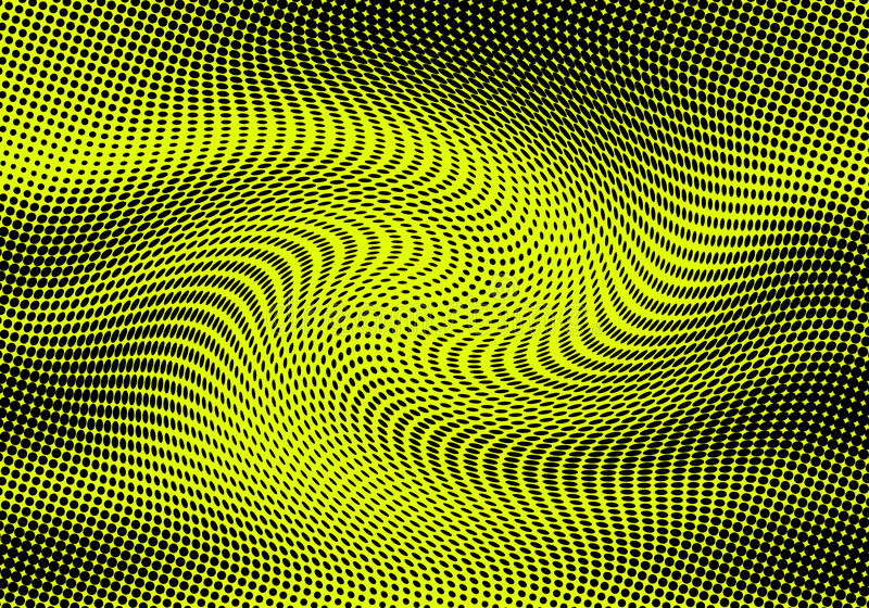 Żółty abstrakcjonistyczny tło ilustracji