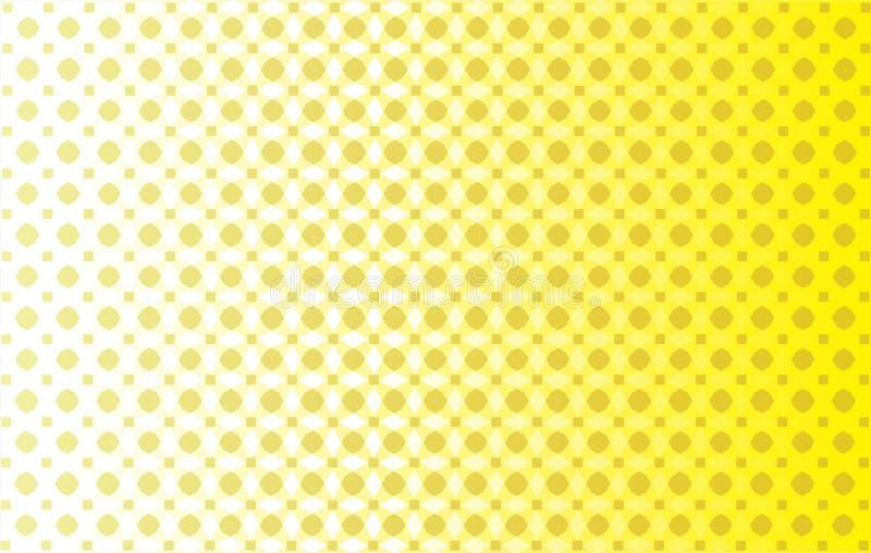 Żółty abstrakcjonistyczny tło ilustracja wektor