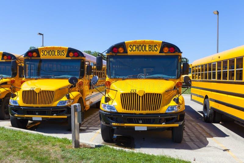Żółty autobus szkolny zdjęcia royalty free