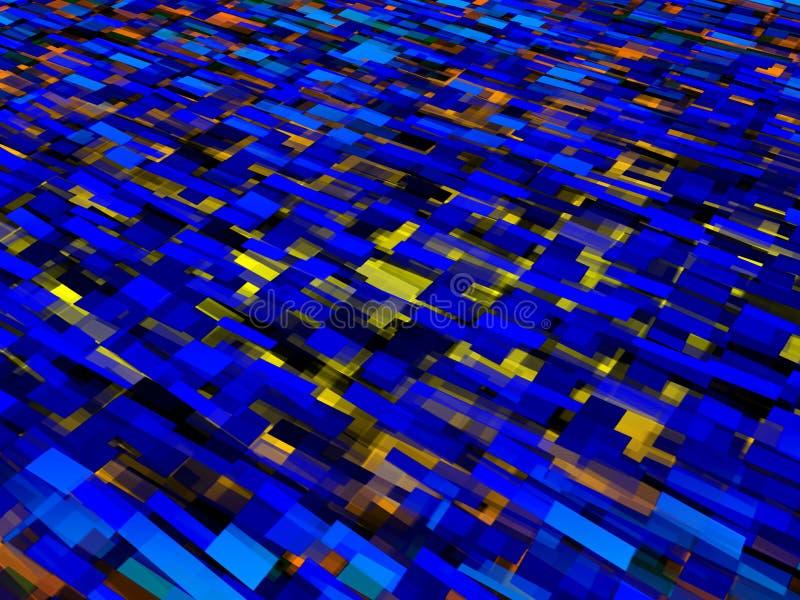 Żółty Błękitny abstrakt Obciosuje tło ilustrację royalty ilustracja