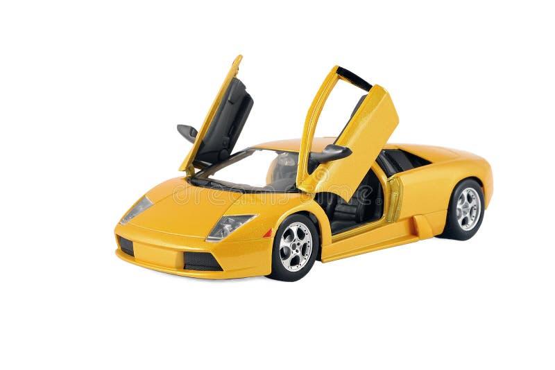 Żółty Bieżny Zabawkarski Samochodowy sporta pojazdu Children prezent obraz stock