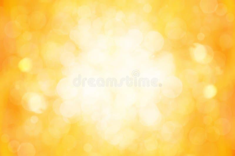 Download Żółty bokeh abstrakta tło ilustracji. Ilustracja złożonej z lampasy - 53780592