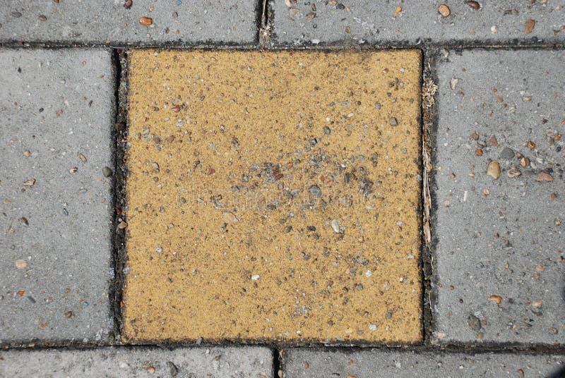 Żółty brukowy kamień obraz royalty free