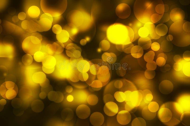 Żółty defocused kolor zaświeca bokeh z tekstury tłem, gol ilustracji