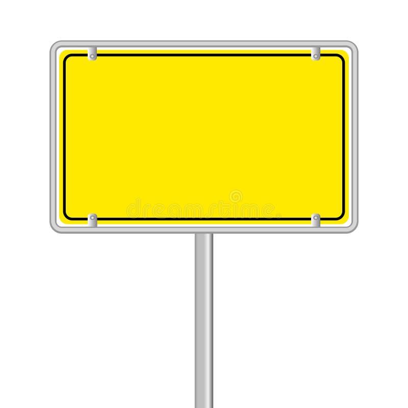 Żółty drogowy znak ilustracja wektor