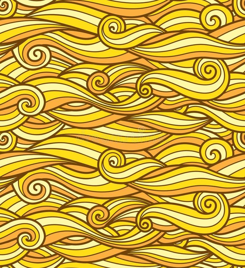 Żółty fala wzór ilustracji